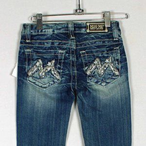 💥NWT Miss Me GIRLS Skinny Bling Rhinestone Jeans